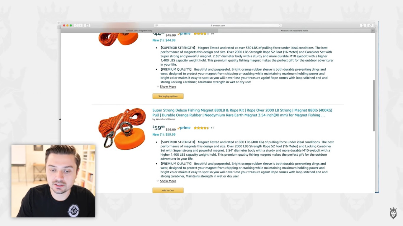 Screen grab of well-written product overviews