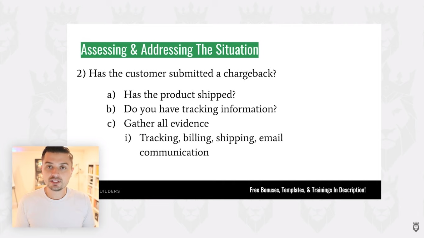 Screen Grab of How to Deal with Chargebacks