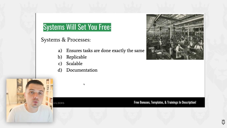 screen grabbed list of benefits of having standard operating procedure documentation