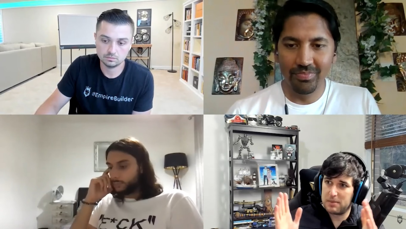 screen grab of video conference while discussing ad scaling strategies for Q4 dropshipping
