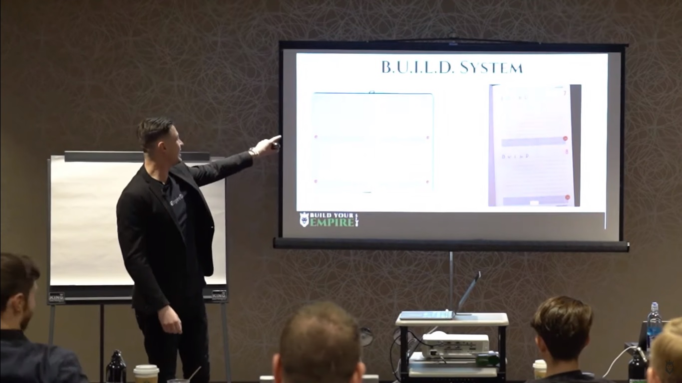 Screengrab of Peter Pru introducing the BUILD system