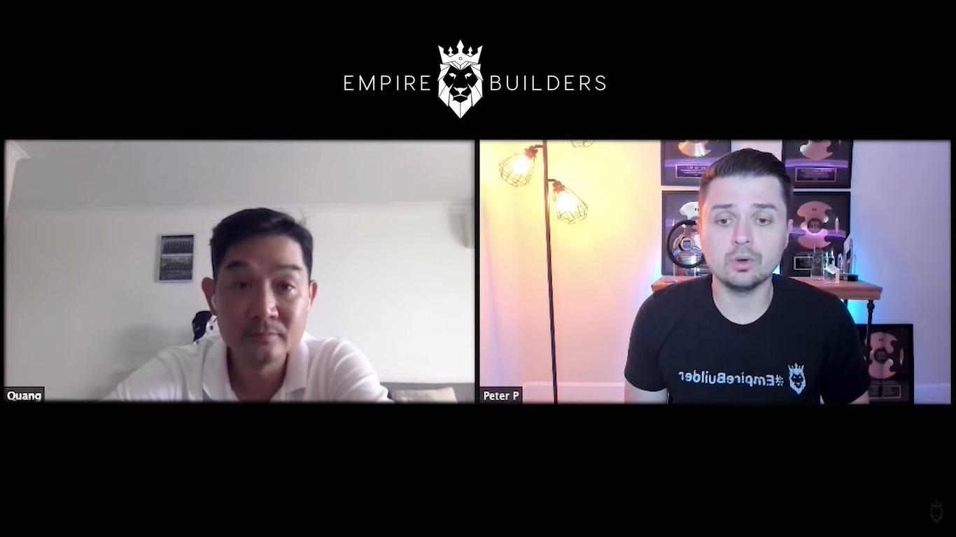 Screen grab of Peter Pru and Quang talking