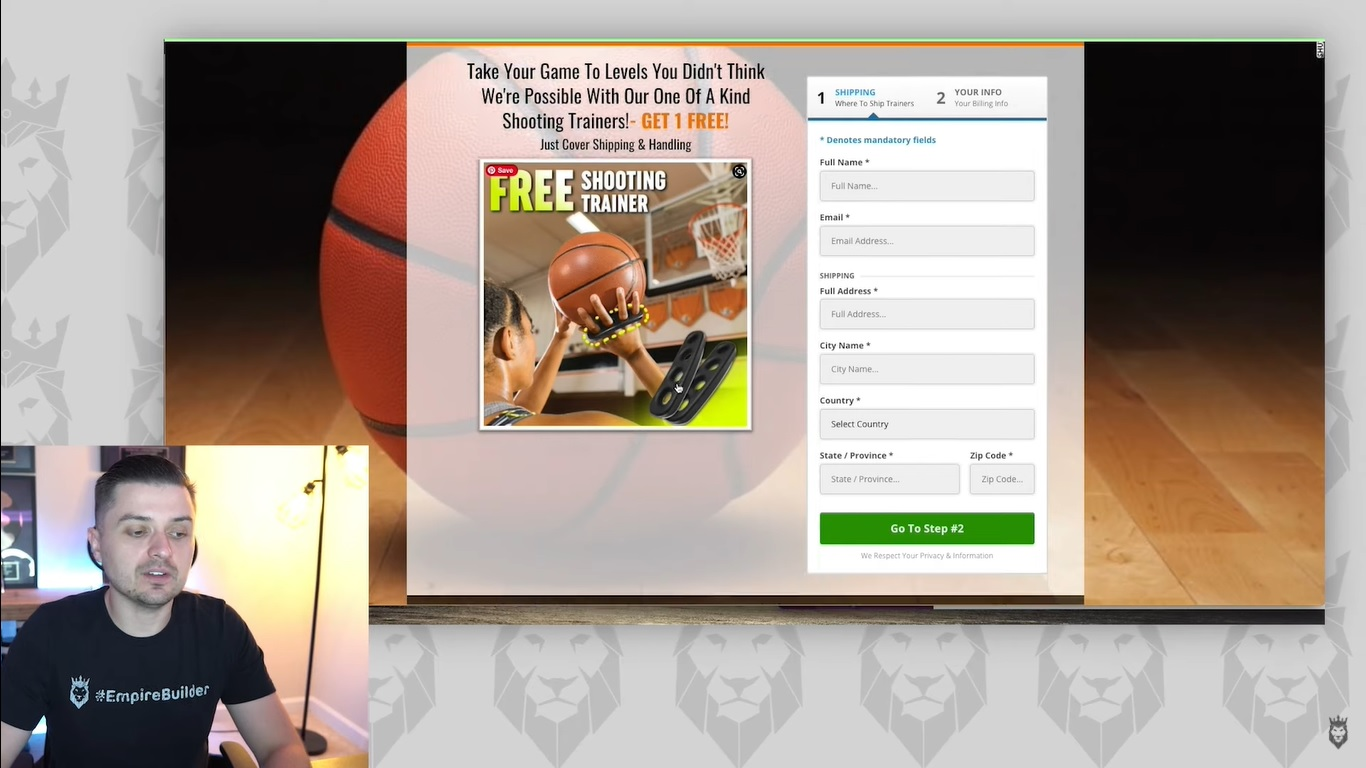Screen grab of Peter Pru discussing a squeeze page in a free Clickfunnels template