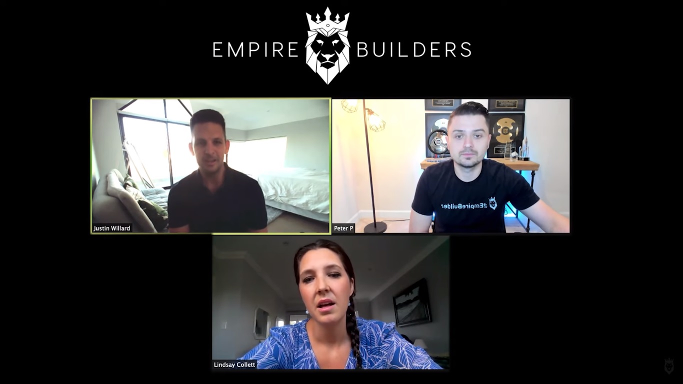 Screen grab of Peter Pru, Lindsay, and Justin discussing Business in a Box and how to start dropshipping