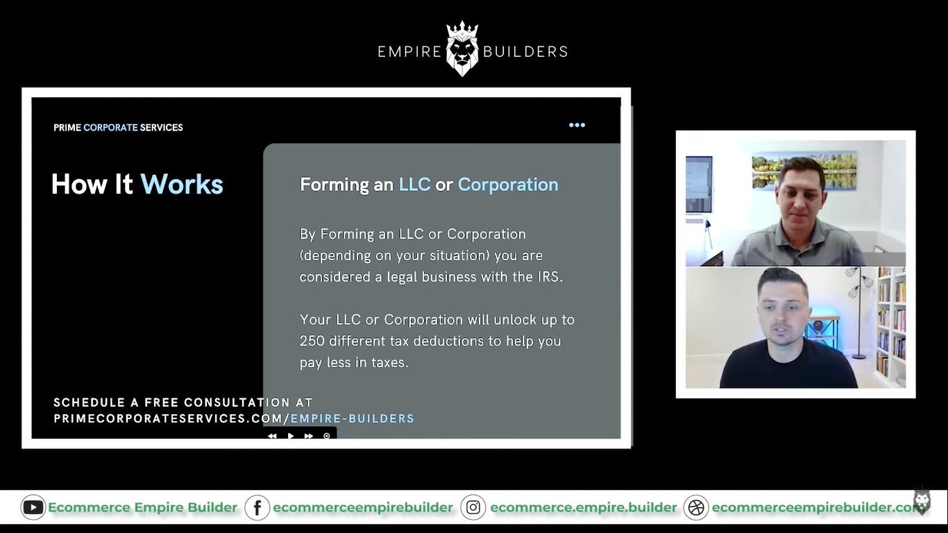 Peter Pru explaining the basics of LLCs