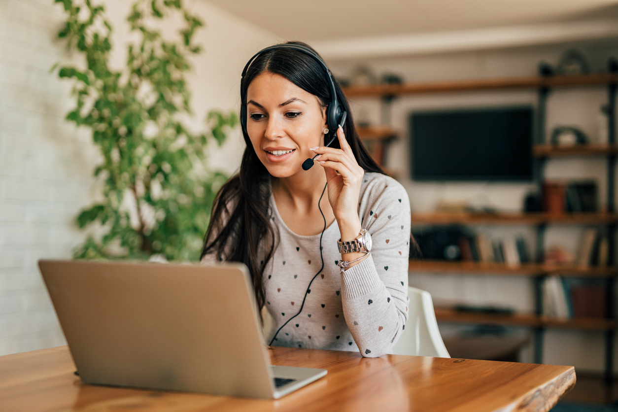 Online business owner arranging client calls and meetings