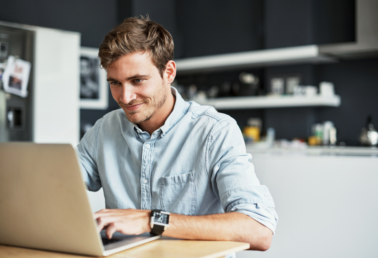 Business owner brainstorming digital product ideas for his online business