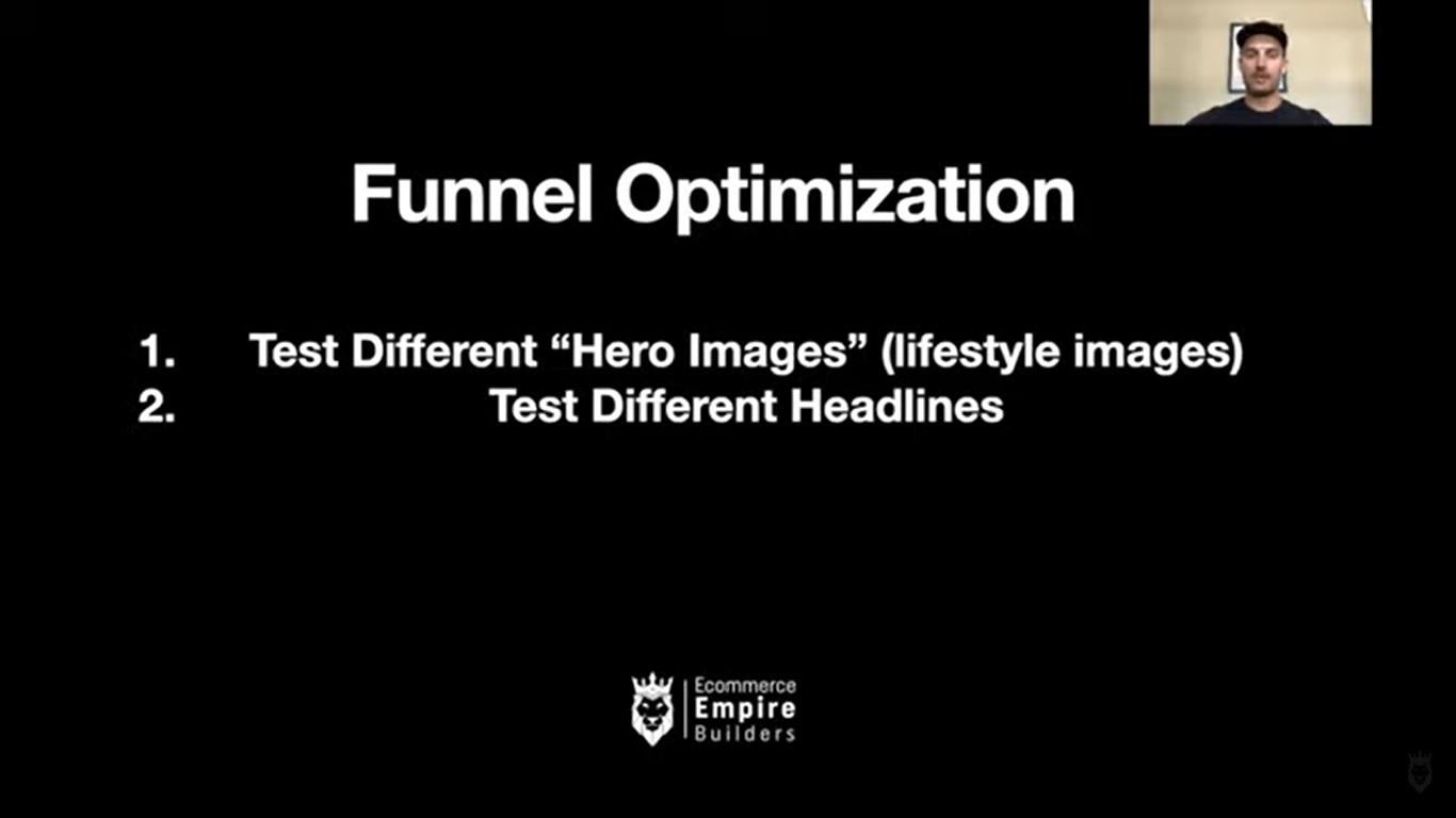 Screen grab of Steve discussing funnel optimization